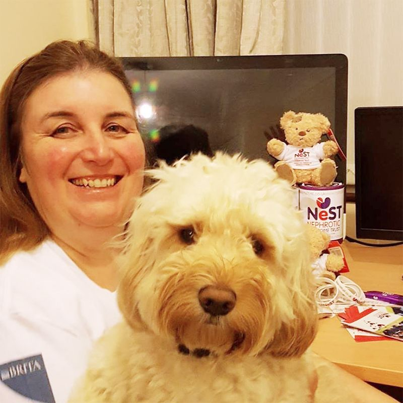 Wendy Cook & Bonnie the cockapoo helper!