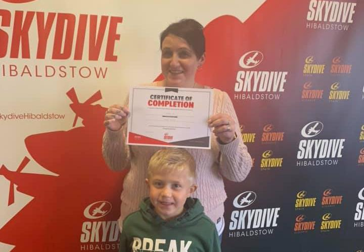 Helen Corney's skydive at Hibaldstow, Lincolnshire